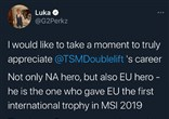 Perkz再次玩梗:Doulelift也是欧洲的英雄