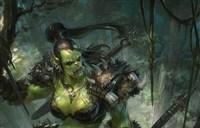 魔兽玩家精良绘画:地狱咆哮伴侣同样威猛