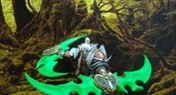 客西马尼软陶作品:T6.5双刀暗夜男战士
