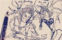 魔兽玩家手绘原创:风格独特的自画像卡通版