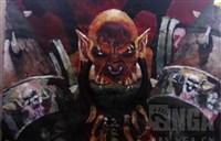 魔兽玩家作品:水粉临摹加尔鲁什地狱咆哮